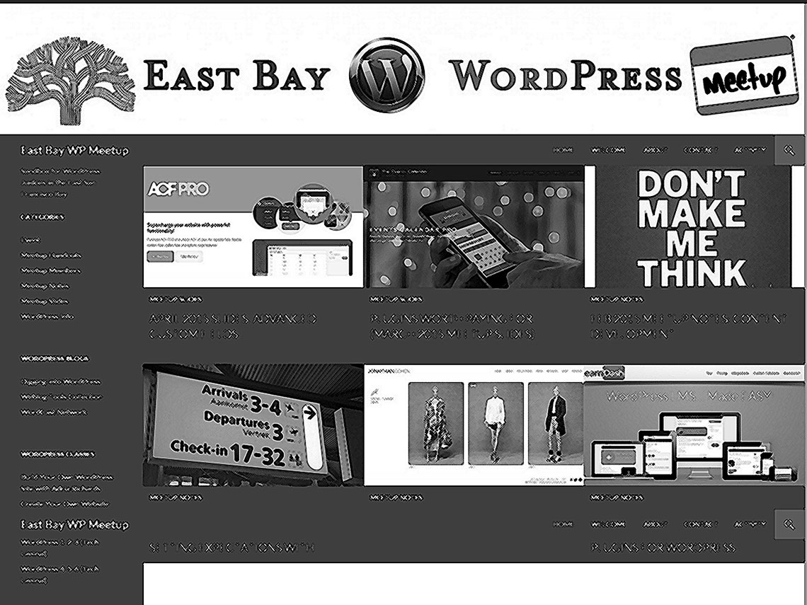 screenshot of eastbaywp.com, crosshatched