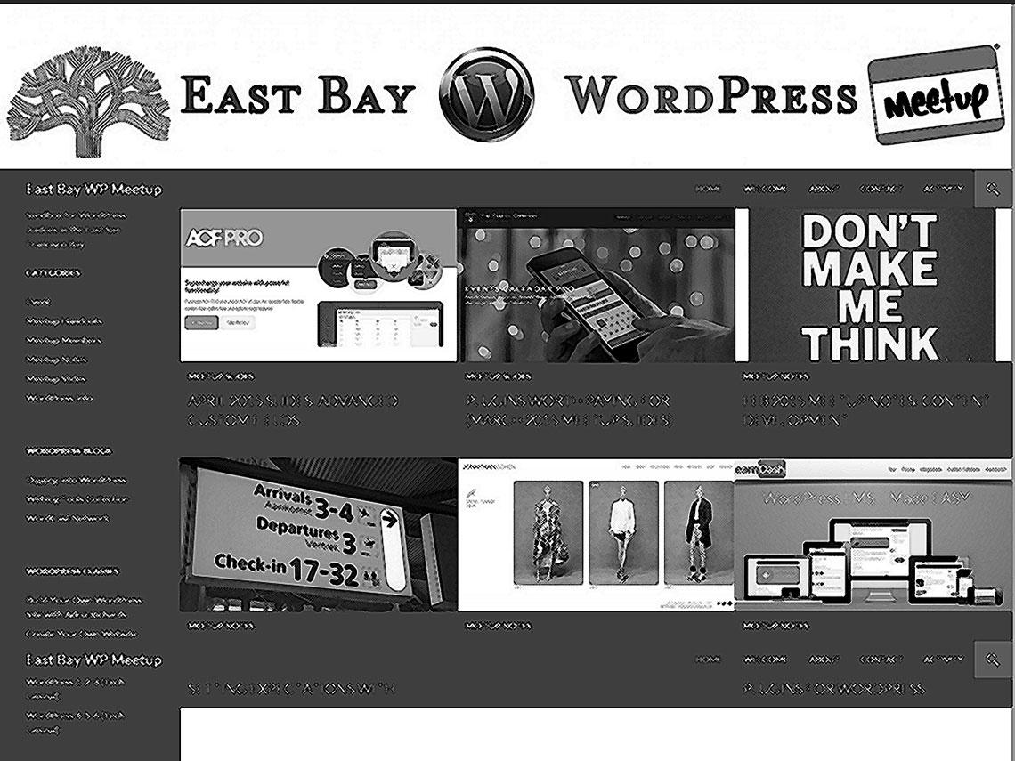 screenshot of eastbaywp.com, crosshatched