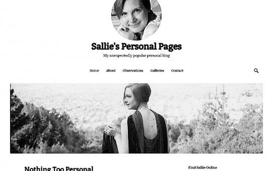 screenshot of salliegoetsch.com, crosshatched