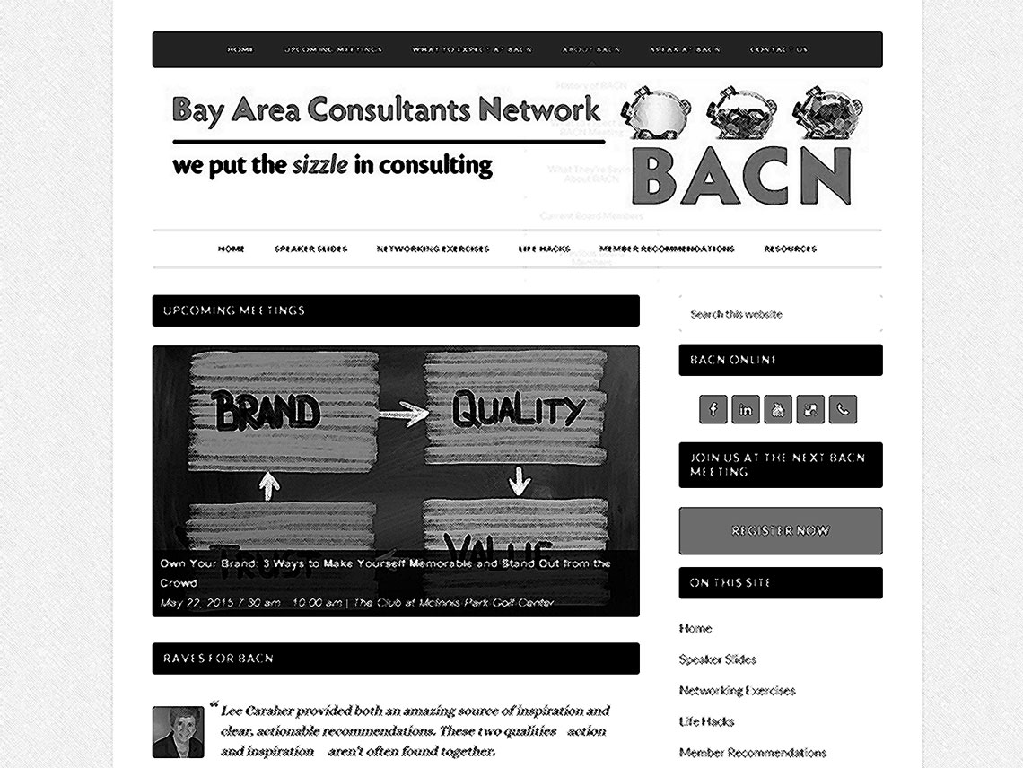 screenshot of bacnetwork.com, crosshatched
