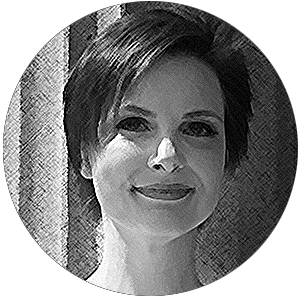 Sallie Goetsch profile image, crosshatched