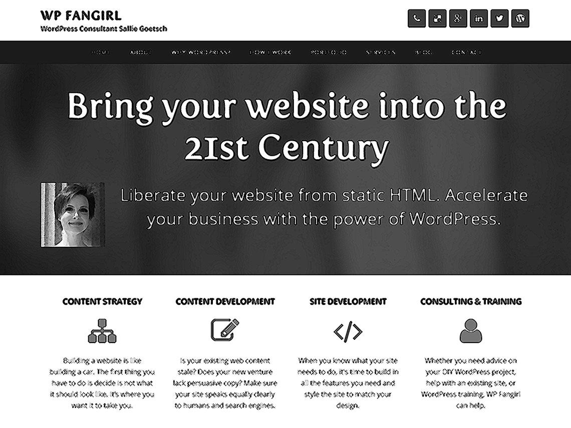 screenshot of wpfangirl.com, crosshatched